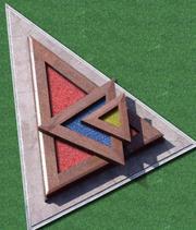Декоративный гранит (окрашенный или цветной щебень) - foto 2